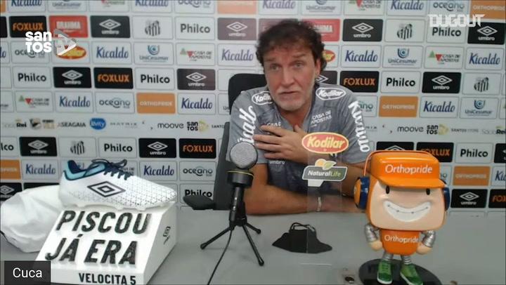 Cuca comenta situações de Sasha e Everson no Santos