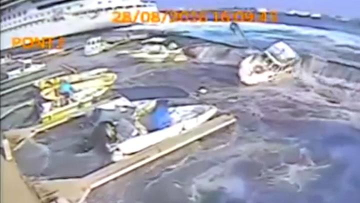 Småbåthavn smadret etter cruiseskip-tabbe