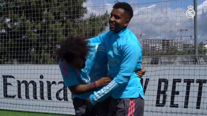 Último entrenamiento del Real Madrid previo al partido contra el Granada