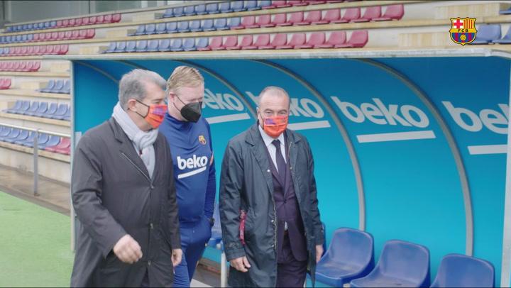 Joan Laporta visita la Ciutat Esportiva del Barça