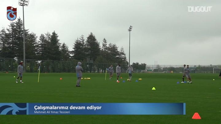 Trabzonspor Antrenmanlara Devam Ediyor