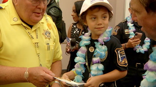 Nevada Highway Patrol hosts birthday party for 7-year-old with cancer