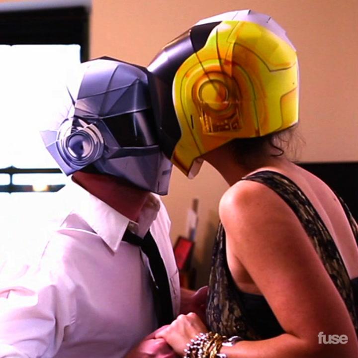 """Daft Punk """"Get Lucky"""" Masked Music Video"""