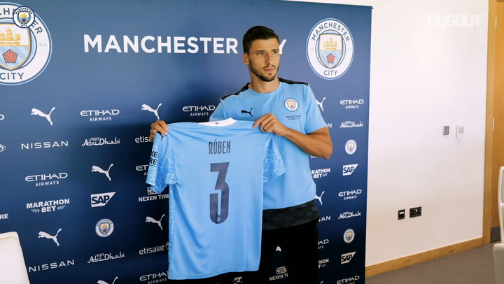 Rúben Dias' first interview as a Manchester City player