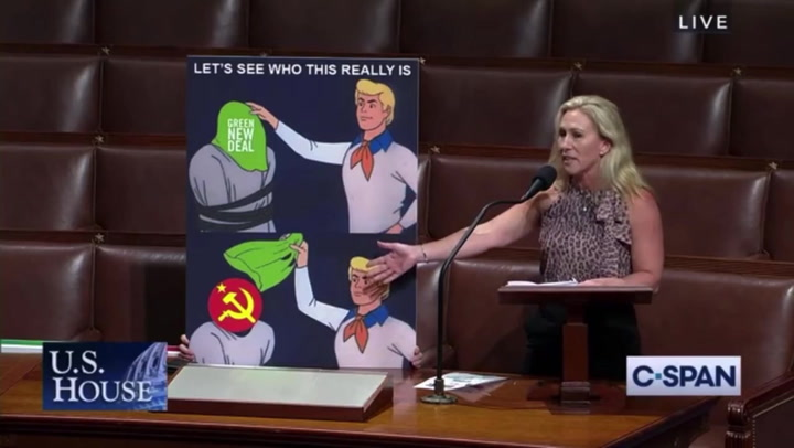 Marjorie Taylor Greene uses Scooby-Doo meme to rally against Green New Deal