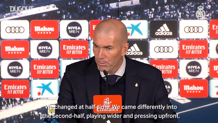 Zidane: 'The changes turned the game around'