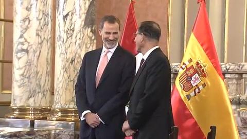 Reyes de España visitan Perú