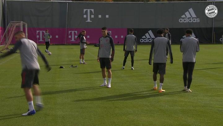 Último entrenamiento del Bayern de Munich previo al partido contra el Atlético