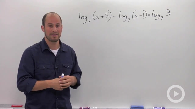 Solving a Logarithmic Equation with Multiple Logs - Problem 1