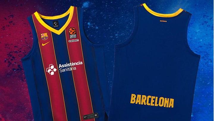 Así son las nuevas camisetas del Barça de basket