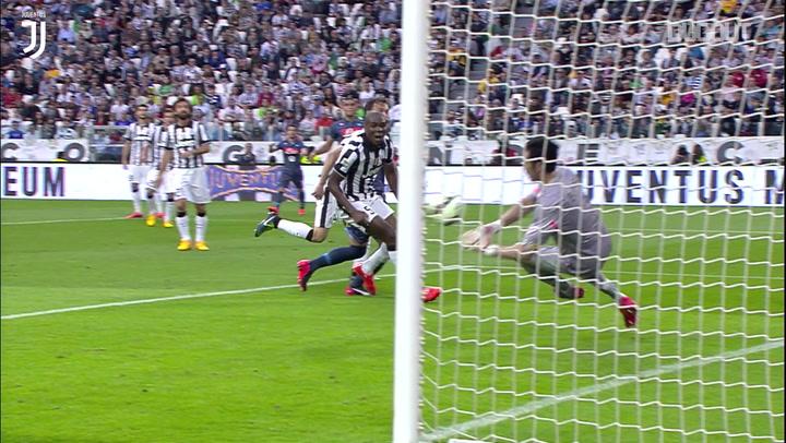 Gianluigi Buffon's saves vs Napoli