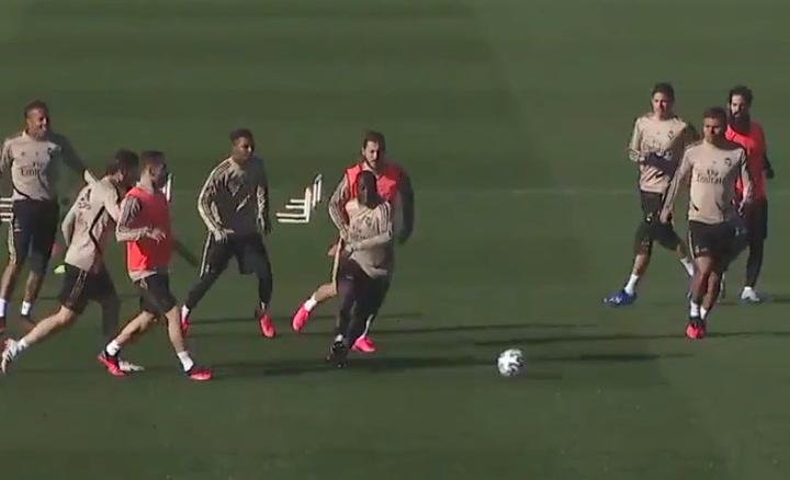 Entrenamiento del Real Madrid previo al partido de Copa contra la Real Sociedad