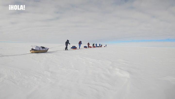 Primeros días de expedición de Paulina Villalonga en la Antártida