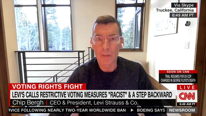 Levi Strauss CEO: 'We Put Our Money Where Our Mouth Is' on Voting Laws - 'Trying to Thread the Needle' with 'Complex' China Situation