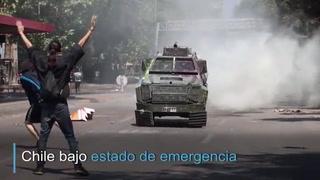Chile bajo estado de emergencia por intensas protestas y varias muertes