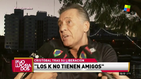 Cristobal López habló al recuperar la libertad