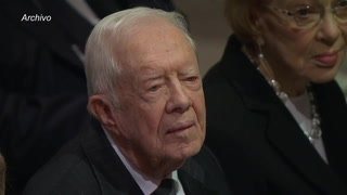 Expresidente Jimmy Carter hospitalizado tras sufrir una caída