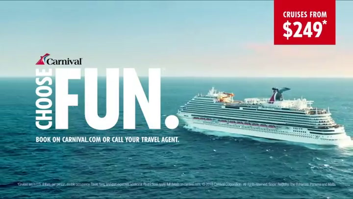 """Carnival Cruise Line """"Choose the pleasure"""" Commercial"""