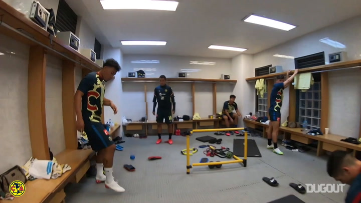 Club América's pre-game warm up from a player's perspective