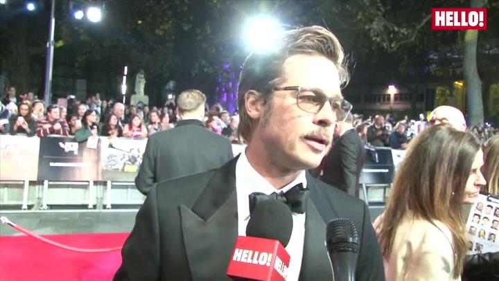 Brad Pitt, Shia LaBeouf and Logan Lerman talk to HELLO! at the London Film Festival premiere of FURY