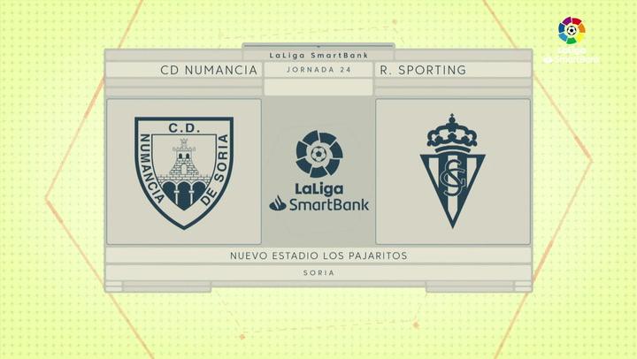 LaLiga SmartBank (J24): Resumen y goles del Numancia 2-0 Sporting