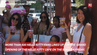 Hello Kitty Cafe Opens on Strip – Video