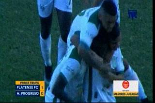 Gerson Rodas tiene ganando a Platense sobre Honduras Progreso