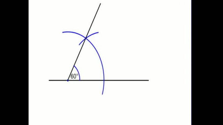 Matte: Hvordan konstruere en 60-graders vinkel