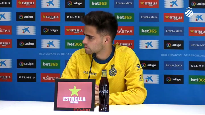 La rueda de prensa de Melendo (Espanyol)