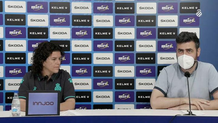 La rueda de prensa de Raquel Cabezón, directora deportiva del RCD Espanyol femenino