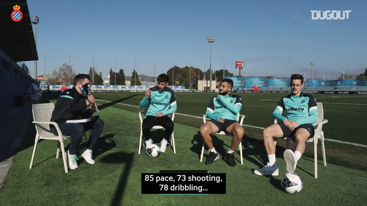 RCD Espanyol players guess Wu Lei's FIFA card