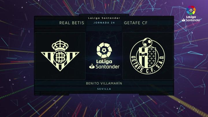 LaLiga (J24): Resumen y gol del Betis 1-0 Getafe