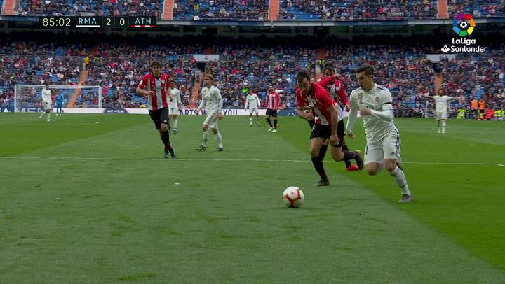 LaLiga: Real Madrid - Athletic Club. Regate y ocasión de Brahim en el minuto 85