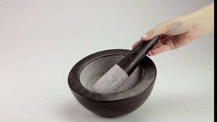 Preview image of Master Class Quarry Marble Mortar & Pestle video