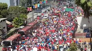 Seguidores de Nicolás Maduro también realizan marcha en Venezuela