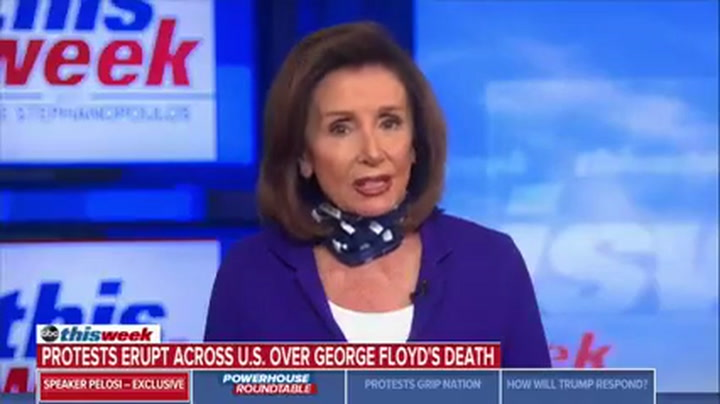 Pelosi: Trump Is Fueling the Flame Instead of Unifying Us