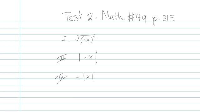 Test 2 - Math - Question 49