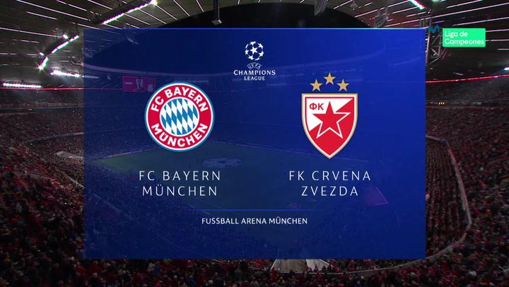 Champions League: Resumen y Goles del Partido Bayern - Estrella Roja