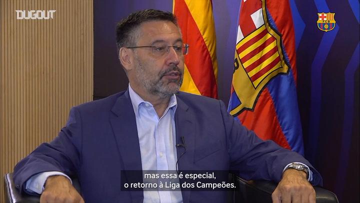 Presidente do Barça fala sobre esperança de conquistar Champions de 2019/20