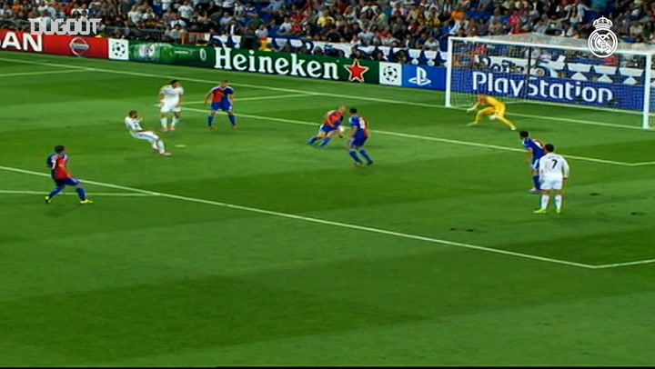 James Rodriguez' first Champions League goal for Real Madrid