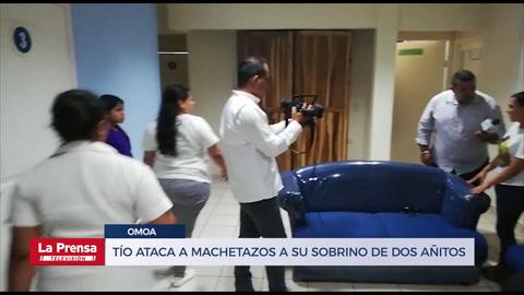 Niño de dos añitos es atacado a machetazos por su tío en Omoa