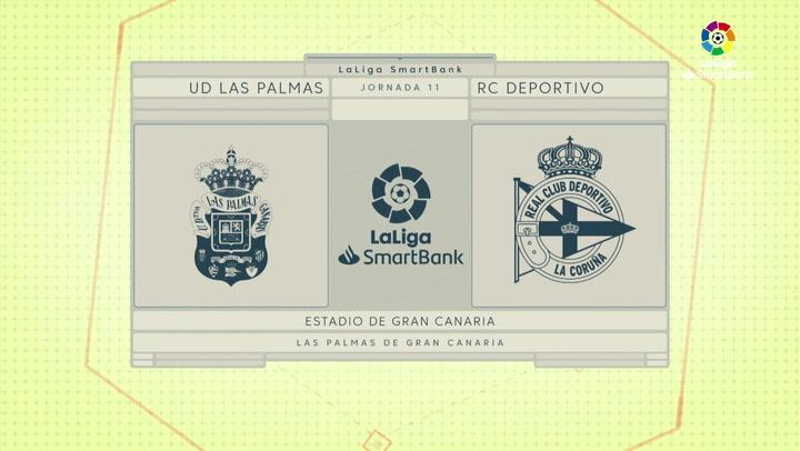 LaLiga SmartBank (J11): Resumen y goles del Las Palmas 3-0 Deportivo
