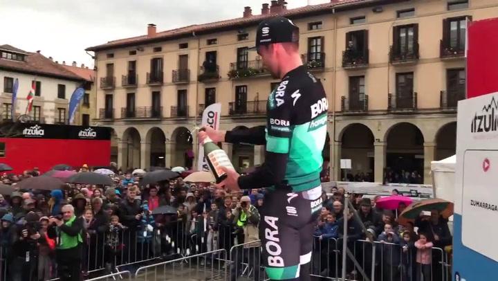 Max Schachmann, del Bora-Hansgrohe, vencedor de la primera etapa de la Vuelta al País Vasco