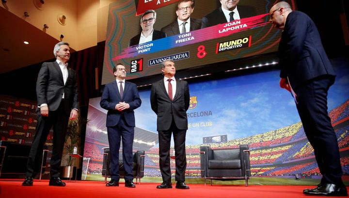 Joan Laporta, Víctor Font y Toni Freixa coincidieron en explicar que cuentan con el actual capitán del Barça Leo Messi