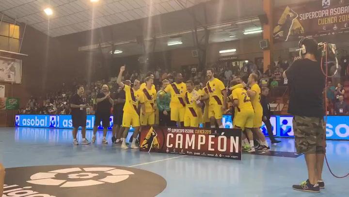 El Barça logra su 22ª Supercopa Asobal, tercer título de la temporada