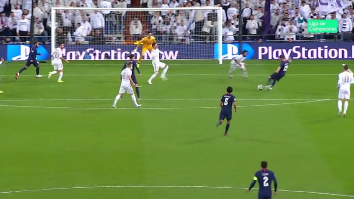 Champions League: Real Madrid - PSG. Gol de Pablo Sarabia (2-2)