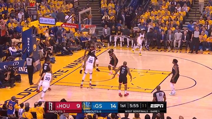 Kevin Durant (Warriors), el jugador más destacado de la jornada de la NBA