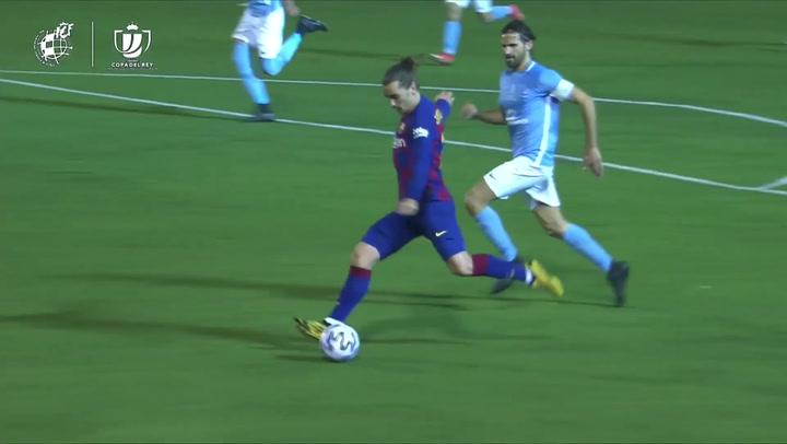 Ibiza - Barça: Gol de Antoine Griezmann (1-2)