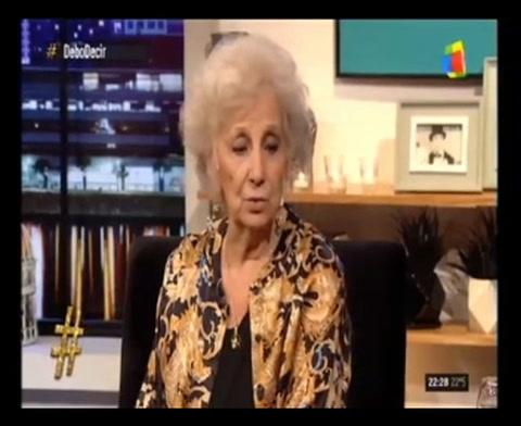 Estela de Carlotto: Banco a Cristina, con defectos y virtudes