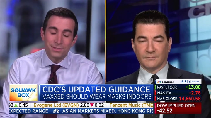 Gottlieb: CDC's 'Confusing' Mask Guidance to Have 'Negligible Impact' on Delta Variant Wave